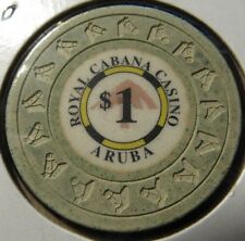Vintage Royal Cabana Casino Aruba $1 Chip - Poker Blackjack