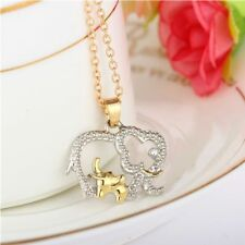 Elephant Women/Girls For Gift Chain Necklace Pendant Rhinestone Crystal