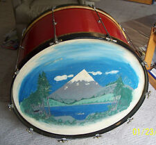 """1920's 30's Slingerland or Leedy 28"""" x 16"""" Bass drum in used condition W / cover"""