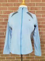 Pearl Izumi IQ Cycling Jacket Women Blue Full Zip Blue/ Gray Size XL
