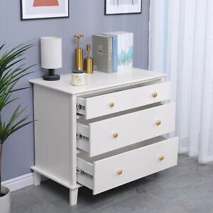 New 3 Drawer Chest Dresser Clothes Storage Bedroom Furniture Cabinet Solidwood