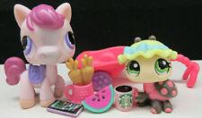 Littlest Pet Shop Htf Authentic Nintendo #1263 Horse #1264 Ladybug Accessories