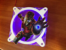 (Iron-Man) Printed Grillz - PC Fan Grill Cover 120mm Custom Fan Grill
