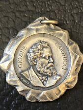 Antique Medallion 1907 GIOSUE CARDUCCI . Circolo Democratio By M Vanzo