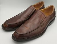 ECCO Brown Leather Slip On Casual Dress Men's Shoes Extra Width Size EU 47 US 13