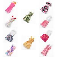 10/pcs Set For Girls Toys Small Plastic Doll Female Dresses Handmade Random Send