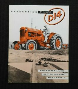 """1957 ALLIS-CHALMERS """"PRESENTING DYNAMIC D14 TRACTOR"""" CATALOG SALES BROCHURE NICE"""
