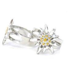 Trachtenschmuck Handbemalter Edelweiss Ring verstellbar von 18mm - 23 mm