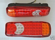 2x Rear Tail LED Lamps Lights 24V for Lorry Truck Tipper Camper DAF Iveco Volvo