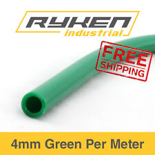 4mm Hose Flexible - Nylon - Green / Tube - Pneumatic Air Line / Per Meter