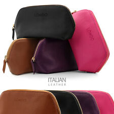 Londo Genuine Leather Makeup & Cosmetic Bag Travel Organizer Toiletry