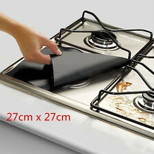 Foil Gas Hob Easy Clean Protector Liner Non-Stick Dishwasher Reusable x4