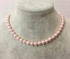 Collana in Perle Naturale da Donna, Pietra Dura, Conchiglia, Rosa 6,8,10mm