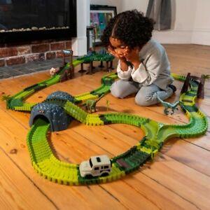 Jurassic World Dinosaur Track Set Velociraptor Trex And Brachiosaurus Kid's Toys
