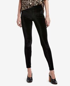 Hue Womens Velvet Leggings Black