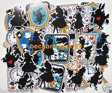 LAST Alice in Wonderland Silhouette Sticker 70 pcs Scrapbook Cat MIND WAVE JAPAN