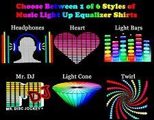 Choose Adult Rave Music Equalizer Sound Beat Sensor Light Up Graphic Tee Shirt