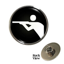 Shooting Olympic Sign Metal Pin Badge firearm airgun hunting gun Symbol NEW