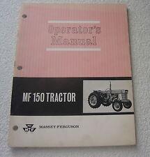 MASSEY FERGUSON MF 150 TRACTOR OPERATOR MANUAL