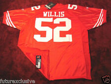 #52 PATRICK WILLIS SAN FRANCISCO 49ERS RED HOME NFL SEWN JERSEY - CHOOSE SIZE