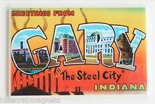 Greetings from Gary FRIDGE MAGNET (2.5 x 3.5 inches) indiana travel souvenir