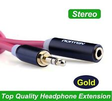 High Quality 6FT AUX Audio Extension Cable Stereo 3.5mm male to female Headset