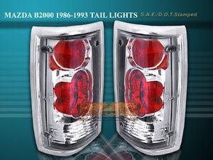 86-93 MAZDA B2000 B2200 B2600 TAIL LIGHTS CHROME LAMPS 92 91 90 89