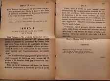 REGIO DECRETO - Approvata inversione dei redditi dell'opera pia - 1887 -  219