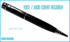 VOICE-AUDIO RECORDING BLACK PEN - 128 HOURS- 2GB MEMORY