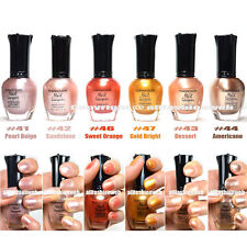 KLEANCOLOR 6 PCS NAIL POLISH WARMING GOLD ORANGE COLOR SET LACQUER !