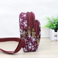 Flower Pattern Women Girl Satchel Purse Shoulder Bags Handbag Mobile Phone Bag