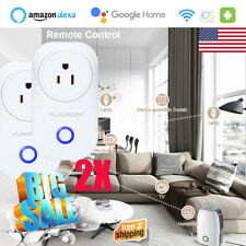 2X WiFi Smart Plug Alexa & Google Home Remote Control Switch Socket Outlet US