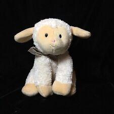 Gund Cream Lamb Sheep Plush Soft Toy Plaid Ribbon Christian Book Musical 042219