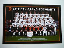 San Francisco SF Giants 2012 Team Photo Poster