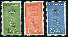 Denmark 1929 Cancer Stamps Scott B3-B5 Mnh (*) Cv$100 0A