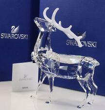 Swarovski Christmas Stag Crystal - 1133076 - Retired - NIB (Retail: $445)