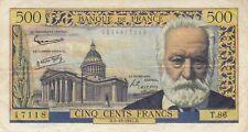 Billet 500 F Victor Hugo du 5-12-1957 FAY 35.7 Alph. T.86