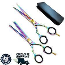 Forbici Barbiere e Parrucchiere Set per tagliare/sfoltire capelli Acciaio inox