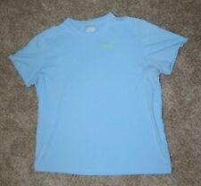 Under Armour Short Sleeve Shirt Men's XXL 2XL Loose Heat Gear Blue Fish Fishing