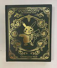 Pokenatomy Unofficial Pokemon Anatomy Guide Book Leather Hardcover RARE IN HAND