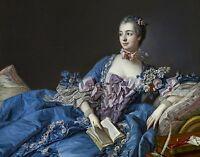 Madame de Pompadour 1750 by Francois Boucher Old Masters 8x10 Art Print