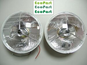 "0001-CLASSIC CAR AUSTIN MINI MG COBRA 7"" HEAD LAMPS P700 HEAD LIGHTS 2PCS/PAIR"