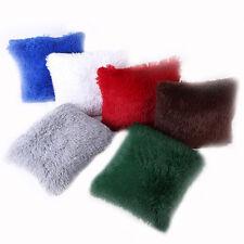 Long Pile Soft Shaggy Plush Cushion Covers Plain Colour Fluffy Cuddly Home Decor