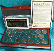 ANCIENT SILK ROAD CIVILISATIONS 20 Bronze Coin Collection, Royal Mint (with COA)