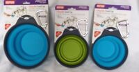Dexas Collapsible Travel Bowl with clip, 2 sizes 8 ozs, 16 ozs,