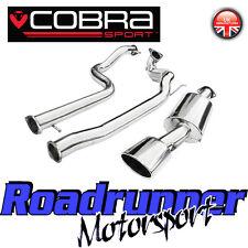 "Cobra Sport Leon Cupra R 3"" Turbo Back Exhaust System NonRes Inc De Cat Downpipe"