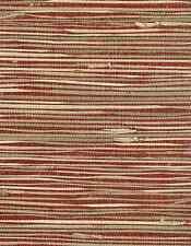 Wallpaper Grasscloth Red Beige Natural Textured NZ0785 Double Rolls FREE Ship