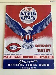 1940 World Series Program Cincinnati Reds Detroit Tigers Crosley Field