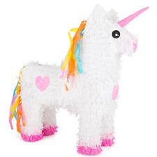 Piñata Licorne - Pinata fête anniversaire - Rose et Blanc