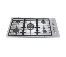 """Aotin 36"""" Stainless Steel 5 Burners Gas Cooktop Built-in Lpg Ng Gas Hob"""